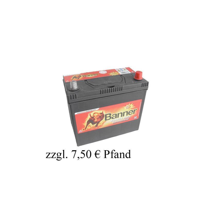 banner 12v 45ah p4523 autobatterie starterbatterie ebay. Black Bedroom Furniture Sets. Home Design Ideas