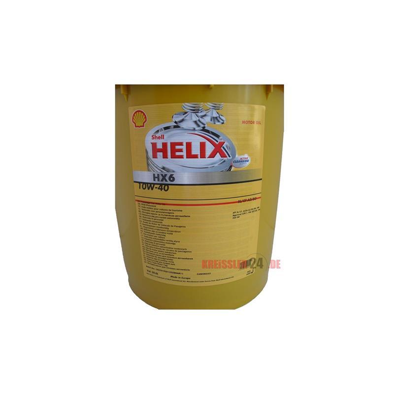 shell helix hx6 10w 40 20 liter l motor l a3 b4 ersetzt. Black Bedroom Furniture Sets. Home Design Ideas