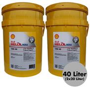 2 Stück Shell Helix HX6 10W-40 20 Liter Motorenöl