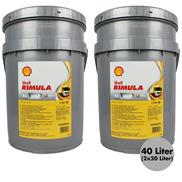 2x  Shell Rimula R4 X 15W-40 20 Liter Motorenöl Mehrbereichs-Hochleistungsmotore
