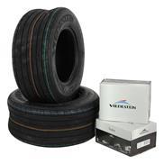 2x 16x6.50-8 65A8 Vredestein Rille V64 Schlauch