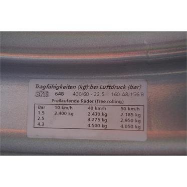 2x  RAD 400/60-22.5 18PR  8Loch/ET0/A3