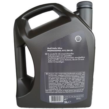 Shell Helix Ultra Professional AV-L 0W-30 5 Liter