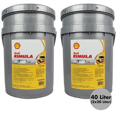 2x  Shell Rimula R4 X 15W-40 20 Liter Motorenöl