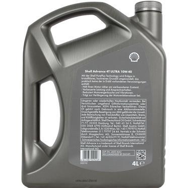 Shell Advance 4T Ultra 10W40 4 Liter 4-Takt SN/MA2