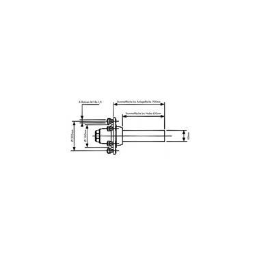 Achsstummel 6Loch/ML160/LK205/M18x1,5 L:650mm