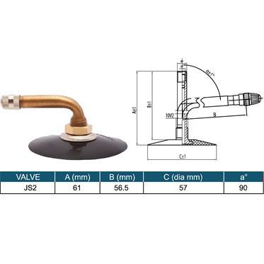 6.00-9 / 21X8-9 Luftschlauch für Reifen JS2