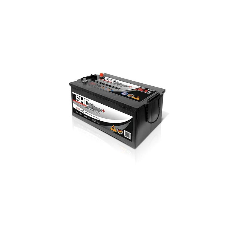 panther batterie 12v 240ah shd 240 silver 30. Black Bedroom Furniture Sets. Home Design Ideas